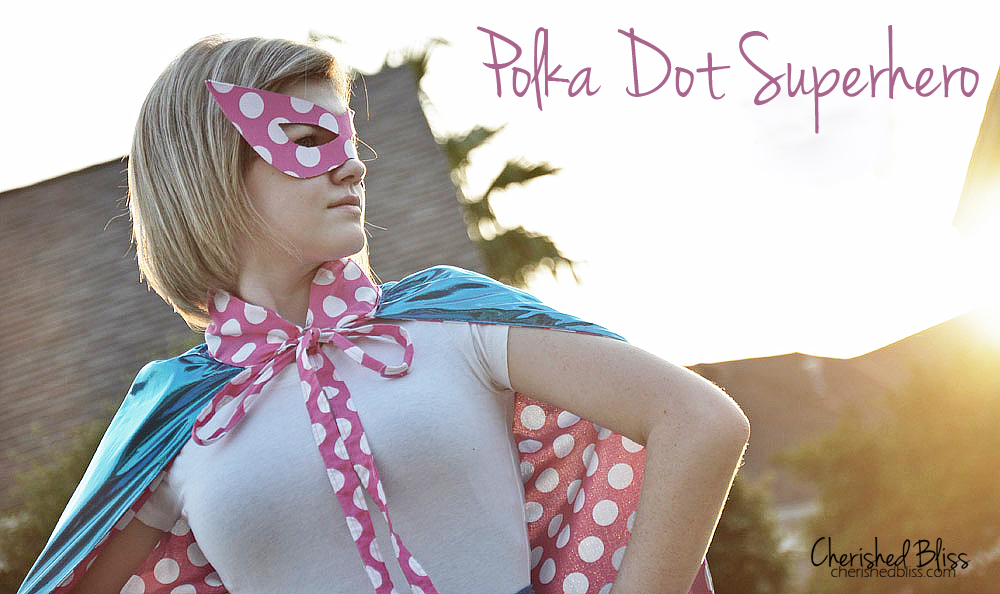 Polka Dot Superhero Costume via Cherishedbliss.com #costume