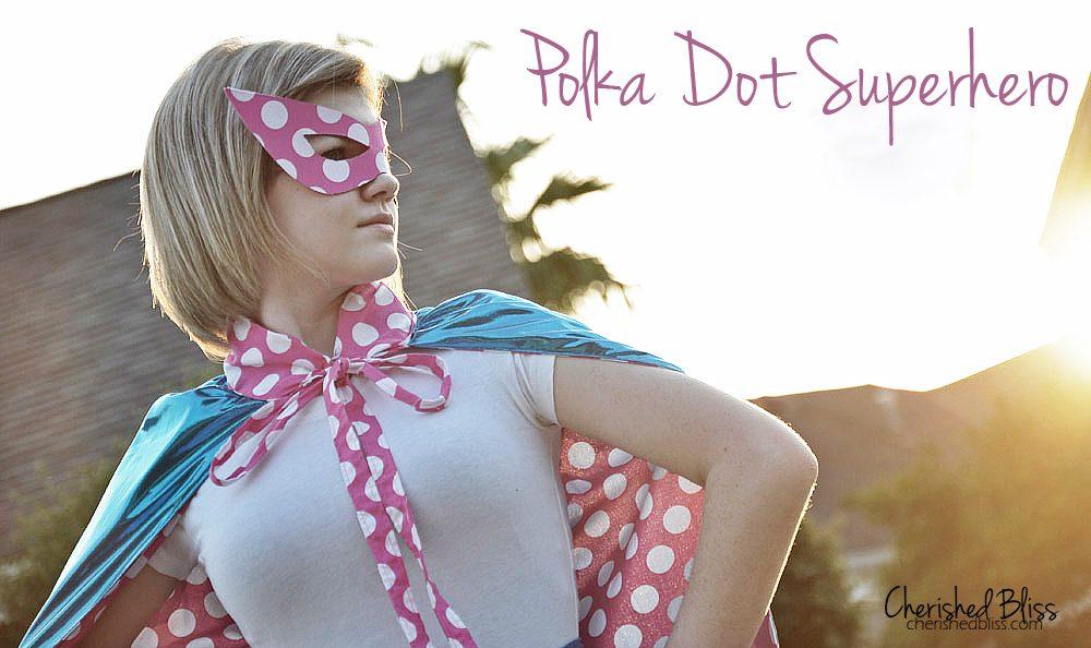 Polka Dot Superhero via Cherishedbliss.com #costume