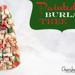 Painted Burlap Tree via Cherishedbliss.com
