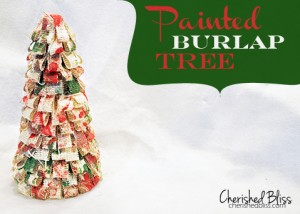 Painted Burlap Tree via Cherishedbliss.com