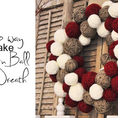 Yarn Ball Wreath {tutorial}