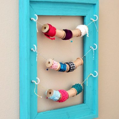 Wooden Spools and a Frame