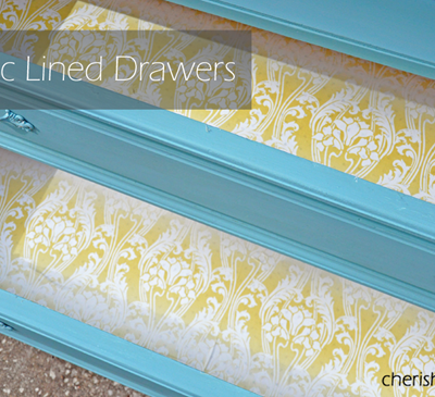 Fabric Lined Drawers {Tutorial}