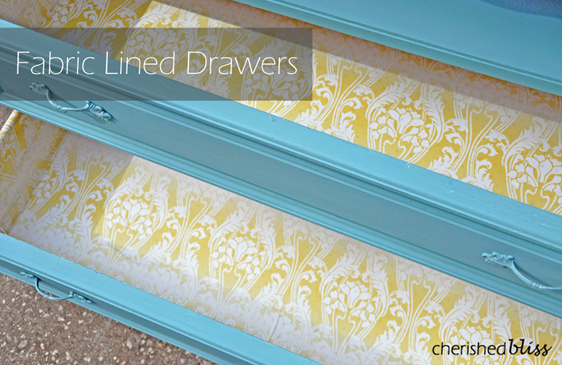 Fabric Lined Drawers Tutorial