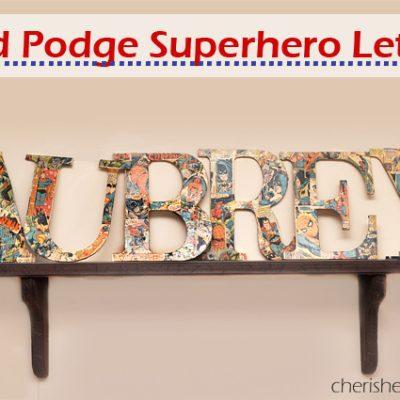 Superhero Comic Book Letters