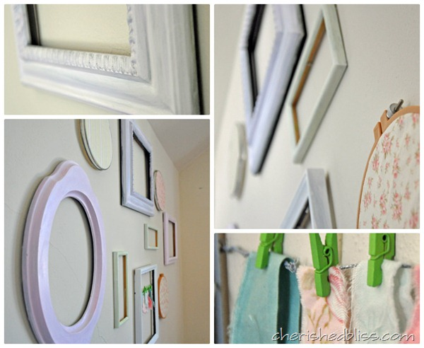 Cherishedbliss.com Shabby Chic Nursery Gallery Wall