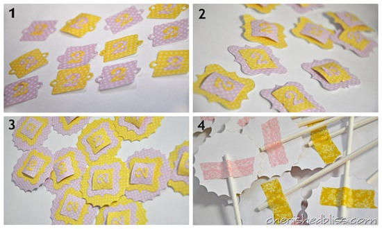 Cupcake Topper Tutorial Pink Lemonade Party