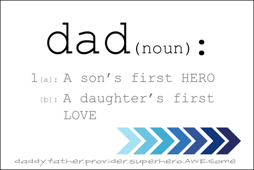 FATHERS DAY PRINTABLE BLUE