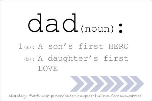 Free Father's Day Printable #fathersday {cherishedbliss.com}