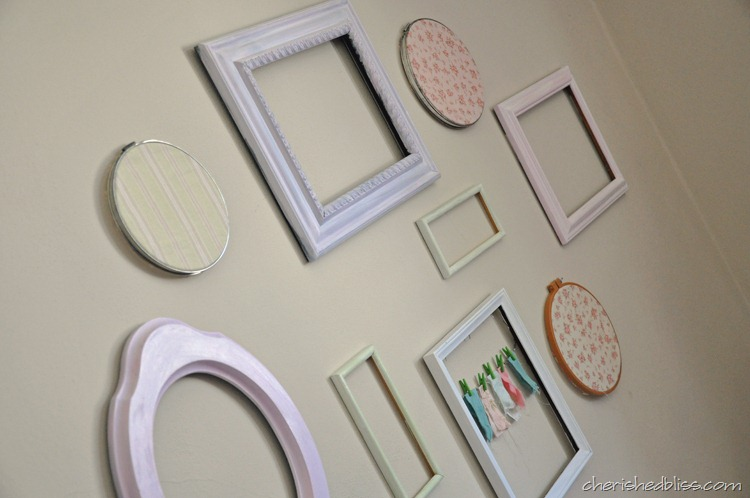 Shabby Chic Frame Wall - Cherished Bliss
