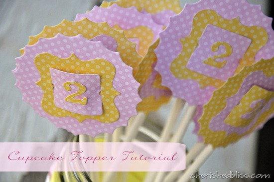 Polka Dot Cupcake Toppers Tutorial