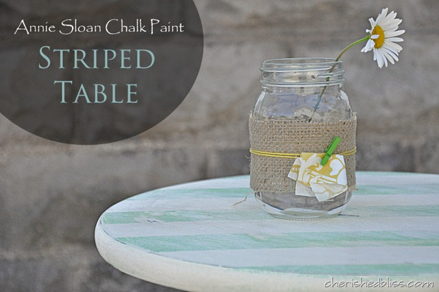 annie sloan chalk paint striped table