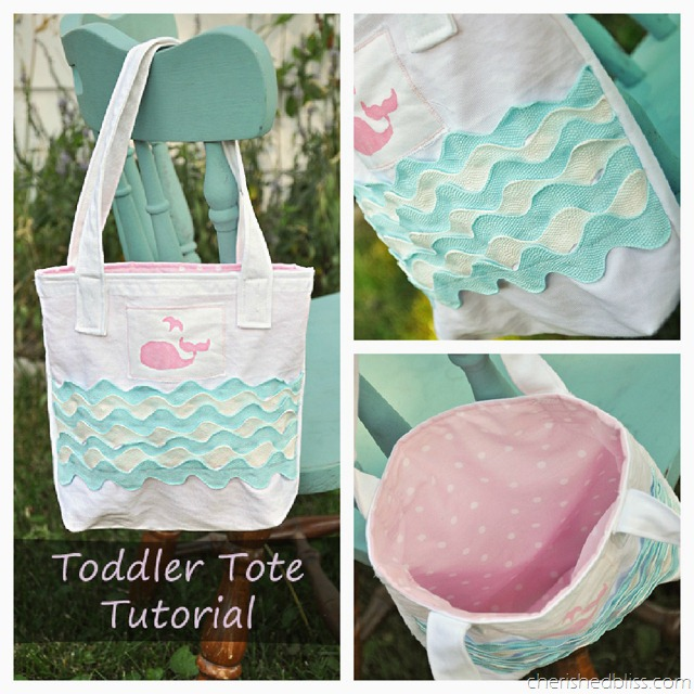 Cherished Bliss Toddler Tote Tutorial