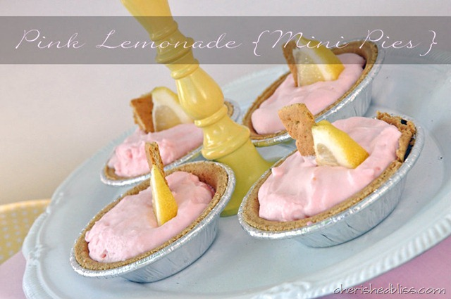 Pink Lemonade Pie Recipe with homemade whipped icing