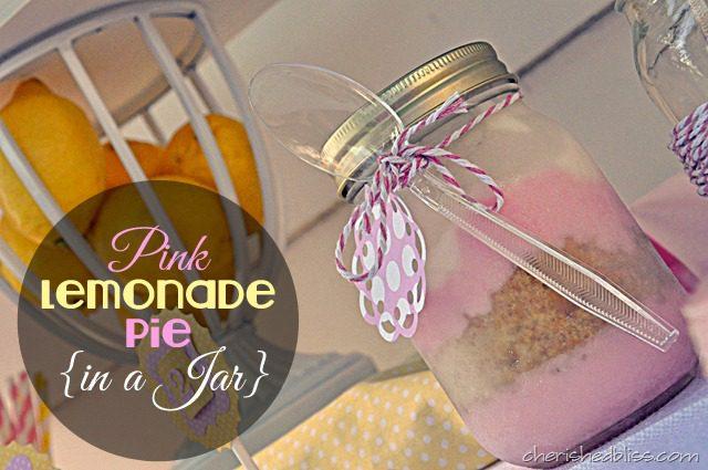 Lemonade Jar uk Pink Lemonade Pie in a Jar
