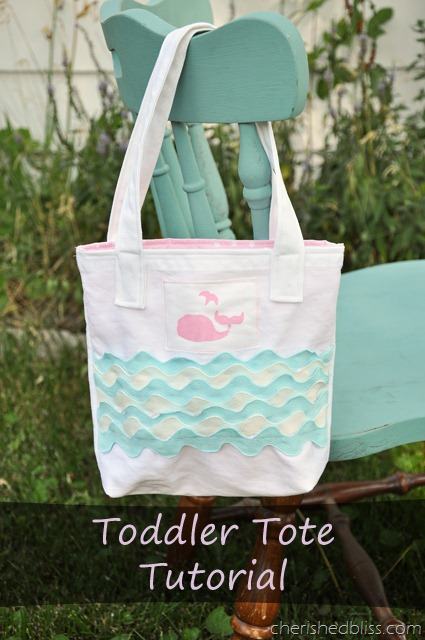Toddler Whale Tote Tutorial