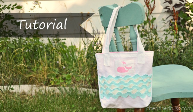 Whale Toddler Tote Tutorial