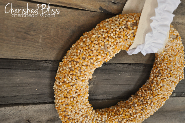 Autumn Popcorn Wreath Tutorial // Cherished Bliss #wreath #tutorial #fall