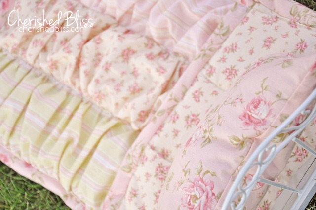 baby doll quilt ruffles