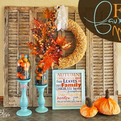 Fall Mantel {Orange & Aqua}