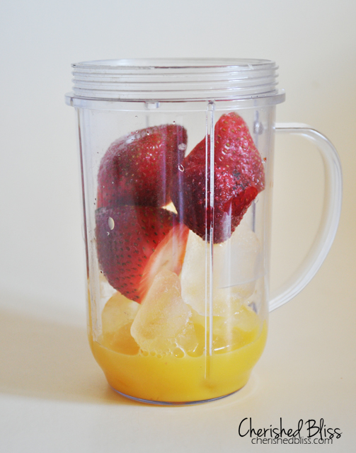 Orange Strawberry Banana Smoothie Recipe // cherishedbliss.com #smoothie