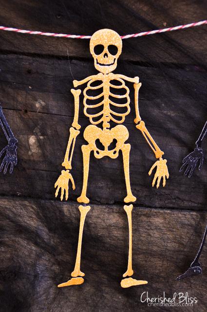 Cherishedbliss.com // Halloween Skeleton Banner #halloween #lifestyle crafts