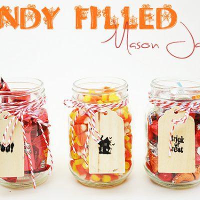 Candy Filled Mason Jars