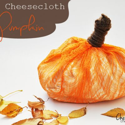 Dyed Cheesecloth Pumpkins
