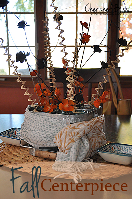 Orand and Aqua Fall Centerpiece // Cherishedbliss.com @worldmarket #worldmarket_hgtv