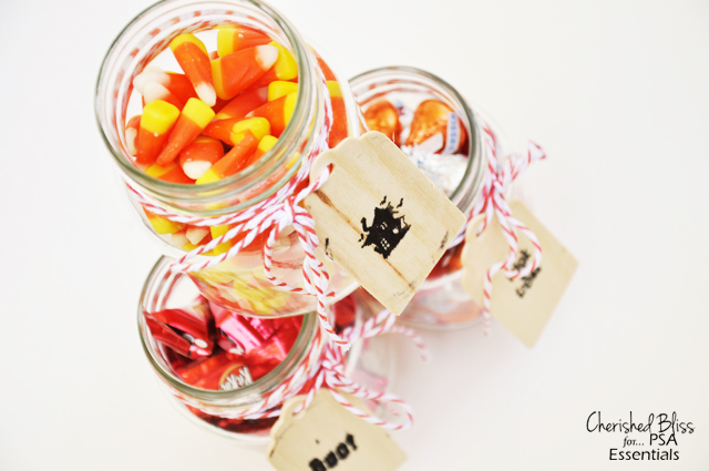 Cherished Bliss: Candy Filled Mason Jars #masonjars #Halloween