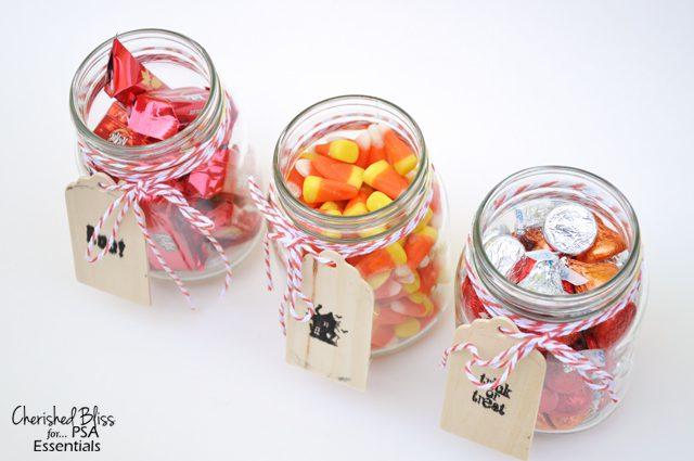 Cherished Bliss: Candy Filled Mason Jars #masonjars #Halloween