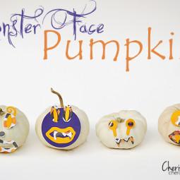 Monster Face Pumpkins