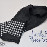 Fleece Scarf for Boys + secret pockets