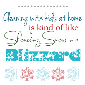 Fun little quote - Shoveling Snow Printable via Cherishedbliss.com