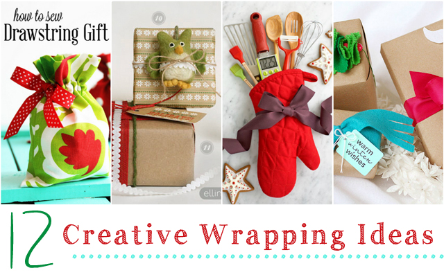 12 Creative Wrapping Ideas via Cherishedbliss.com #christmas #wrapping #gift