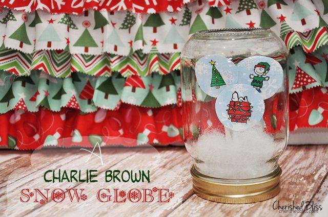 A DIY Charlie Brown Snow Globe via Cherishedbliss.com #Christmas #snowglobe
