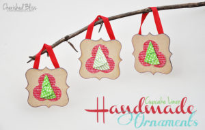 Cupcake Liner Handmade Ornaments