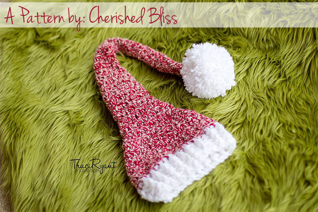 Adorable FREE Stocking Hat Crochet Pattern via cherishedbliss.com