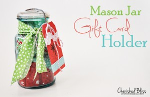 Mason Jar Gift Card Holder