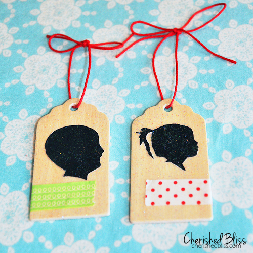Silhouette Christmas Ornaments via Cherishedbliss.com #ornament #christmas