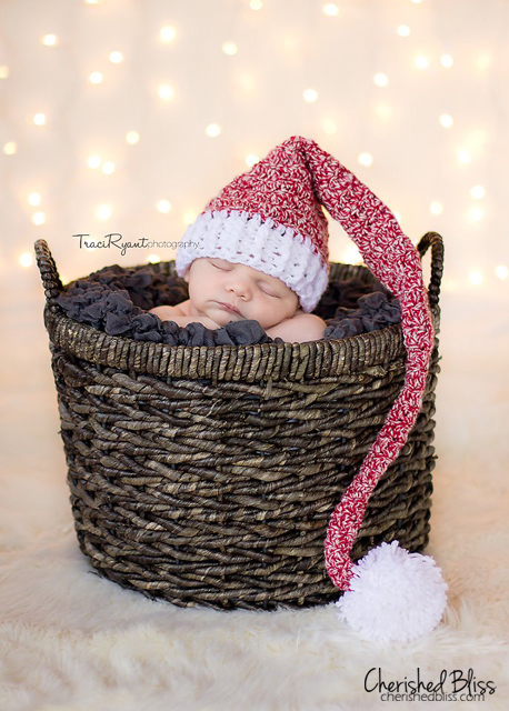 Adorable FREE Stocking Hat Crochet Pattern via cherishedbliss.com 6946ecca136