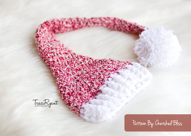 Crochet Pattern Stocking Hat : Stocking Hat Crochet Pattern {free} - Cherished Bliss