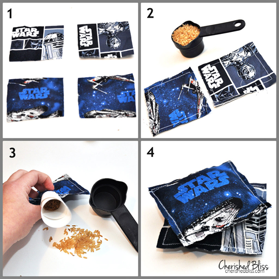 DIY Star Wars Rice Hand Warmers Tutorial via cherishedbliss.com