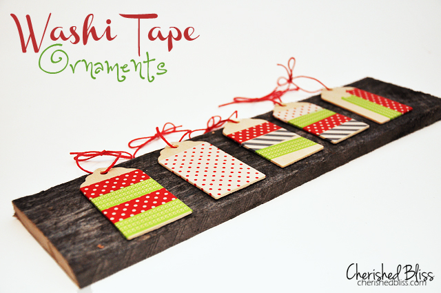 Whimsical Washi Tape Ornaments via Cherishedbliss.com // Downtown Tape Giveaway