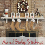 Weaved Burlap Christmas Stockings – Tutorial