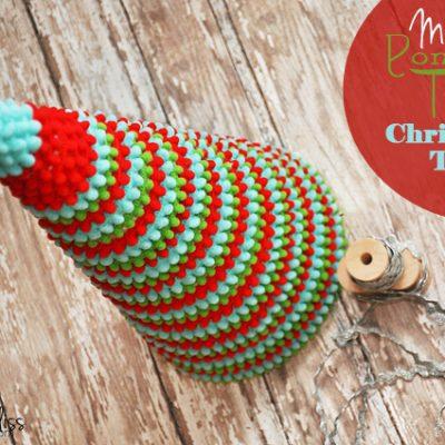 Pom Pom Ribbon Christmas Tree +giveaway