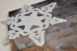 mod podge snowflake