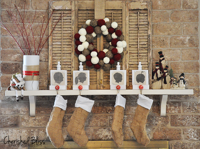 Weaved Burlap Christmas Stockings Tutorial via Cherishedbliss.com #christmas #burlap #stockings