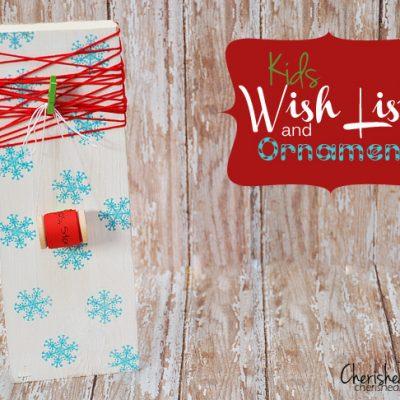 Wooden Spool Ornament Wish List