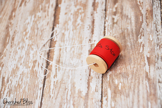 Kid's Wish List and Wooden Spool Ornament via Cherishedbliss.com // #Christmas #Ornament